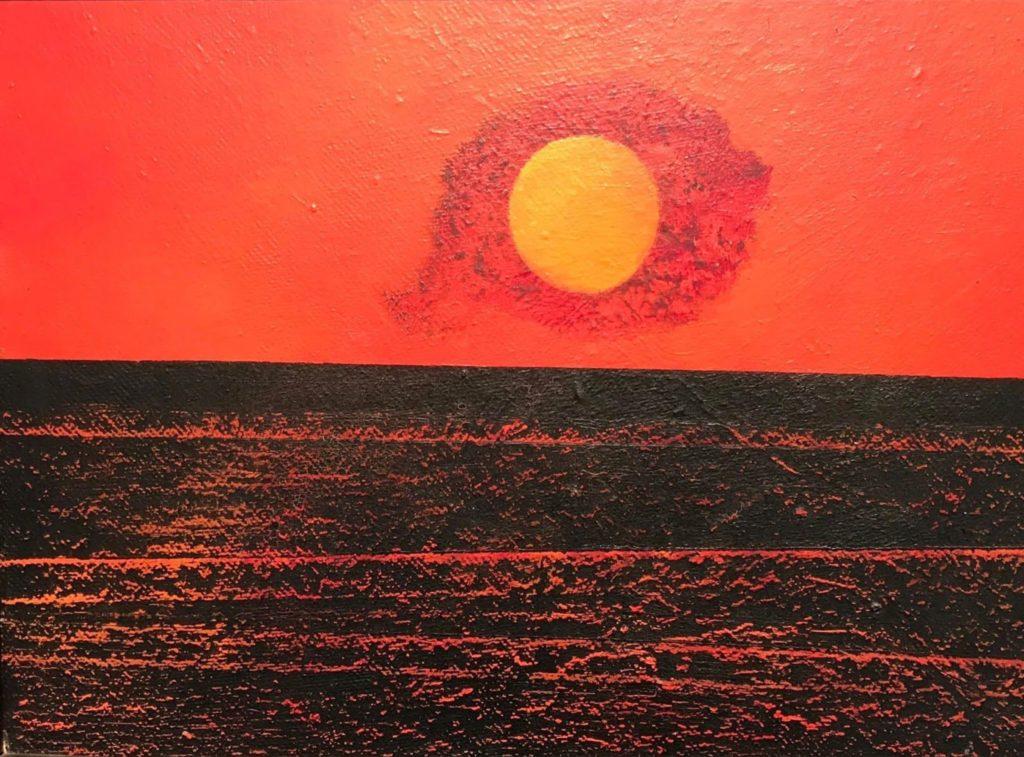 Nuages soleil et mer de Max Ernst