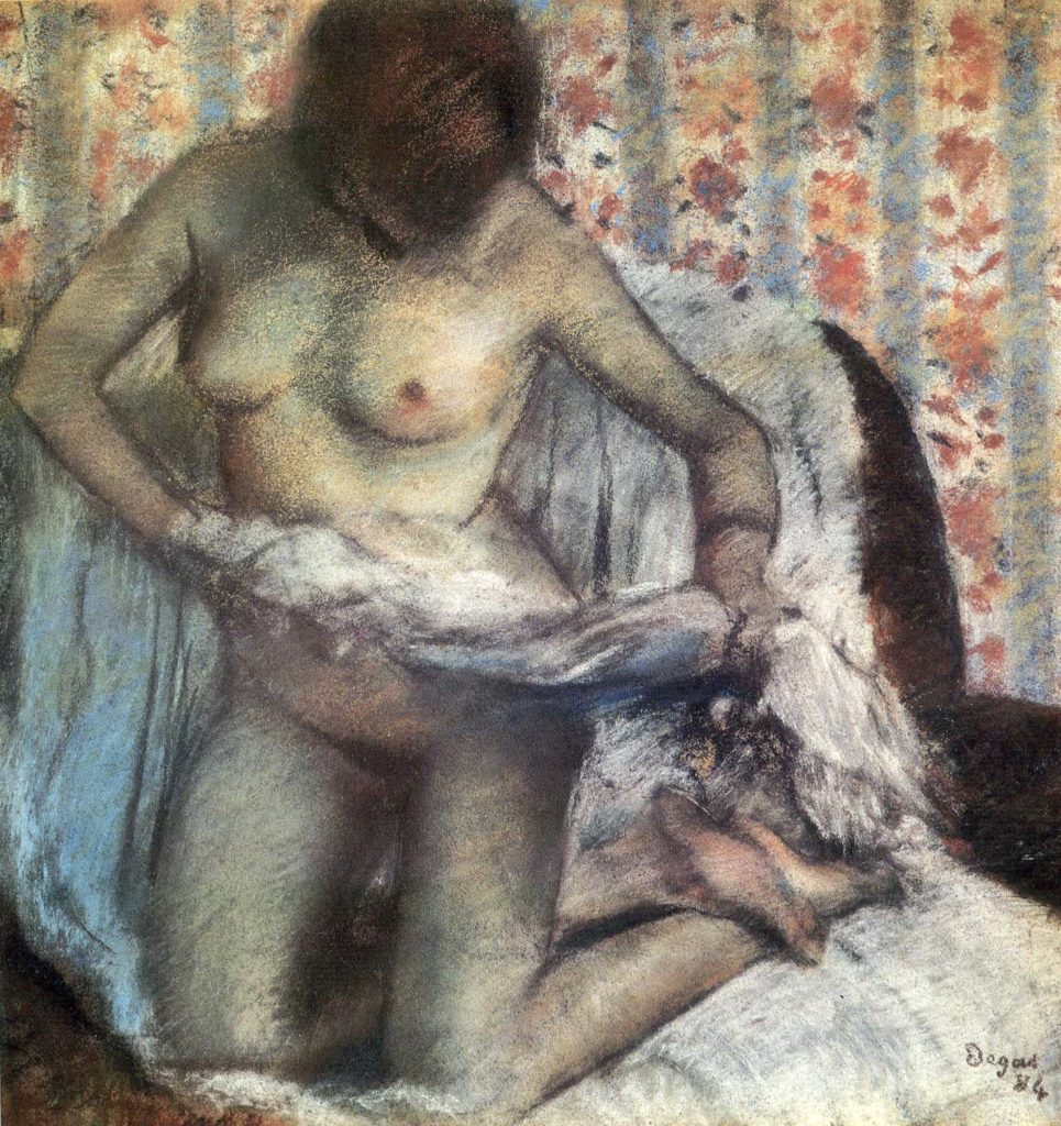 Après le bain d'Edgar Degas