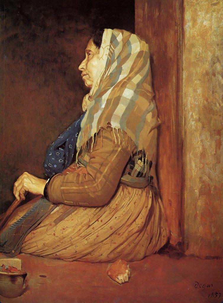 Une mendiante romaine d'Edgar Degas