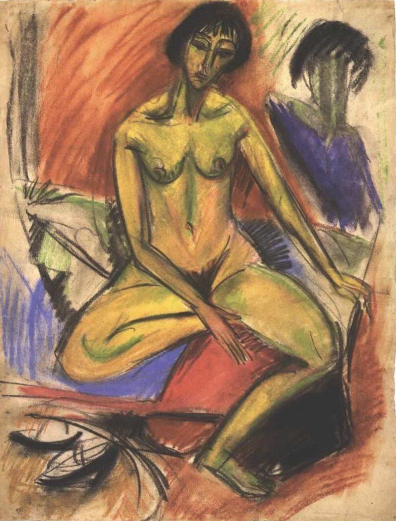 Femme nue assise de Ernst Ludwig Kirchner