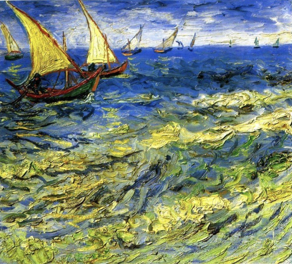 Bateaux de pêche en mer de Vincent van Gogh