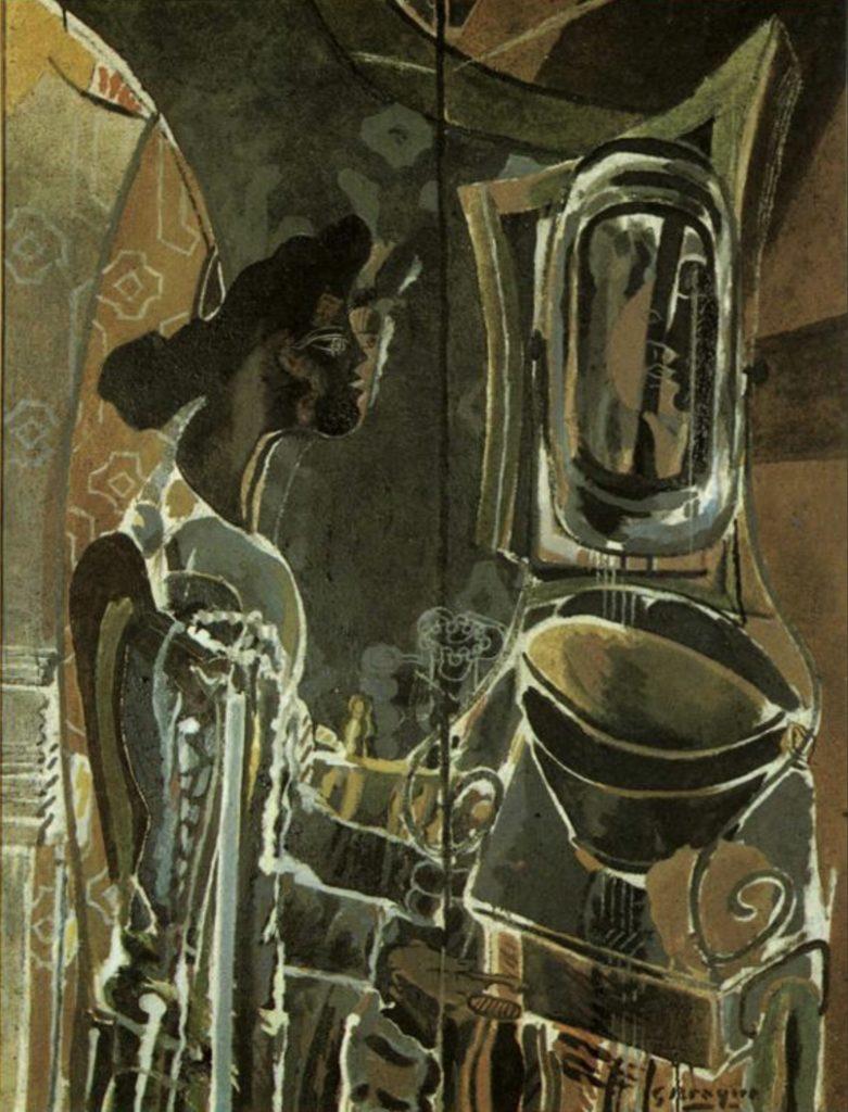 Femme au miroir de Georges Braque