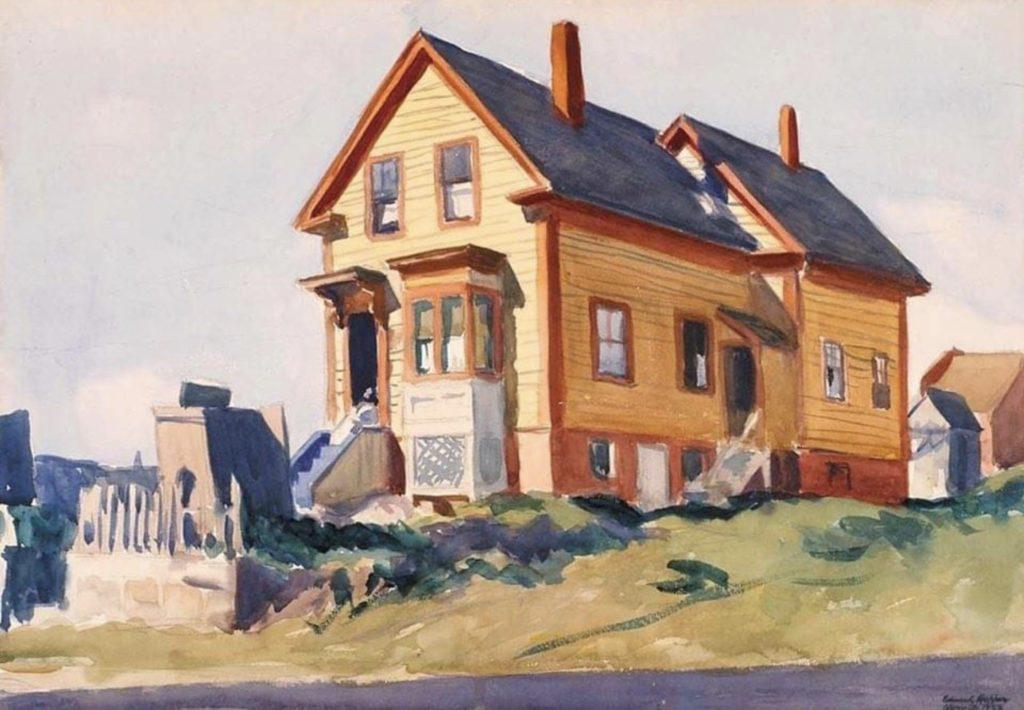 Maison dans le quartier italien d'Edward Hopper