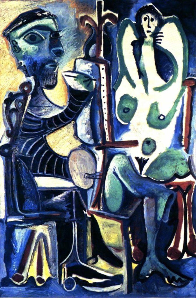 Le peintre et son modèle de Pablo Picasso