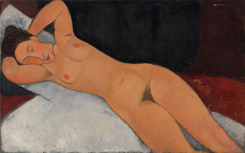 Nu allongé de Modigliani