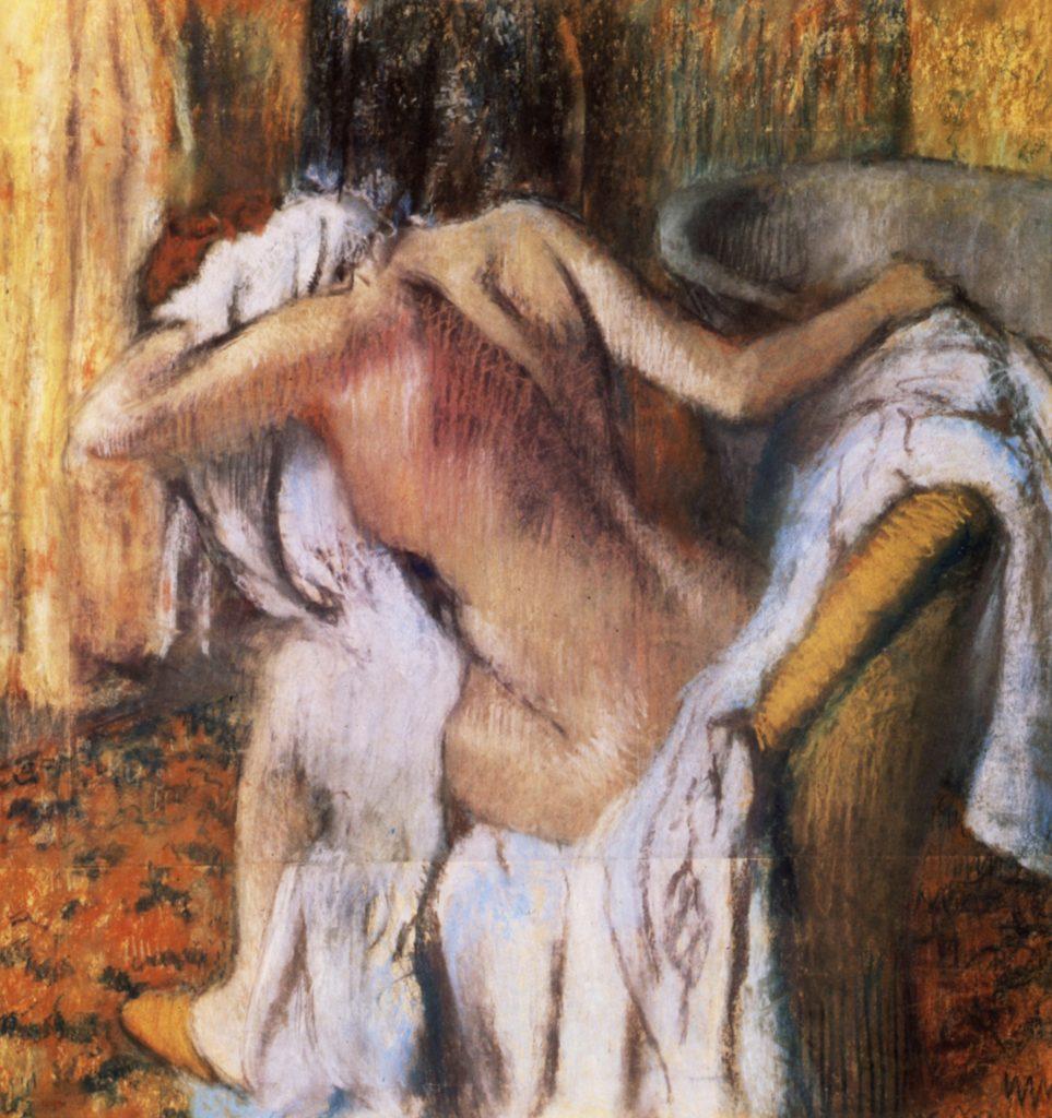 Femme s'essuyant après le bain d'Edgard Degas