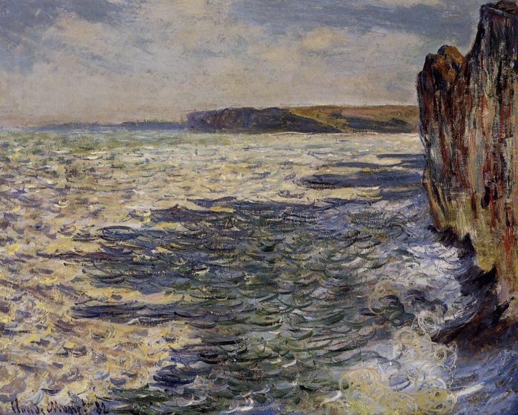 Vagues et rochers à Pourville par Claude Monet