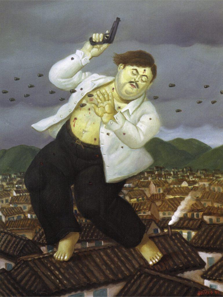 La mort de Pablo Escobar de Fernando Botero