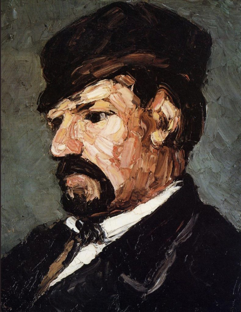 Portrait de l'oncle Dominique par Paul Cézanne