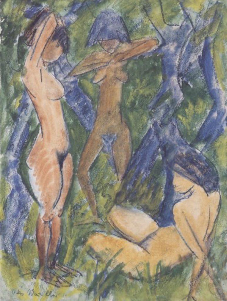 Trois nus féminins par Otto Mueller
