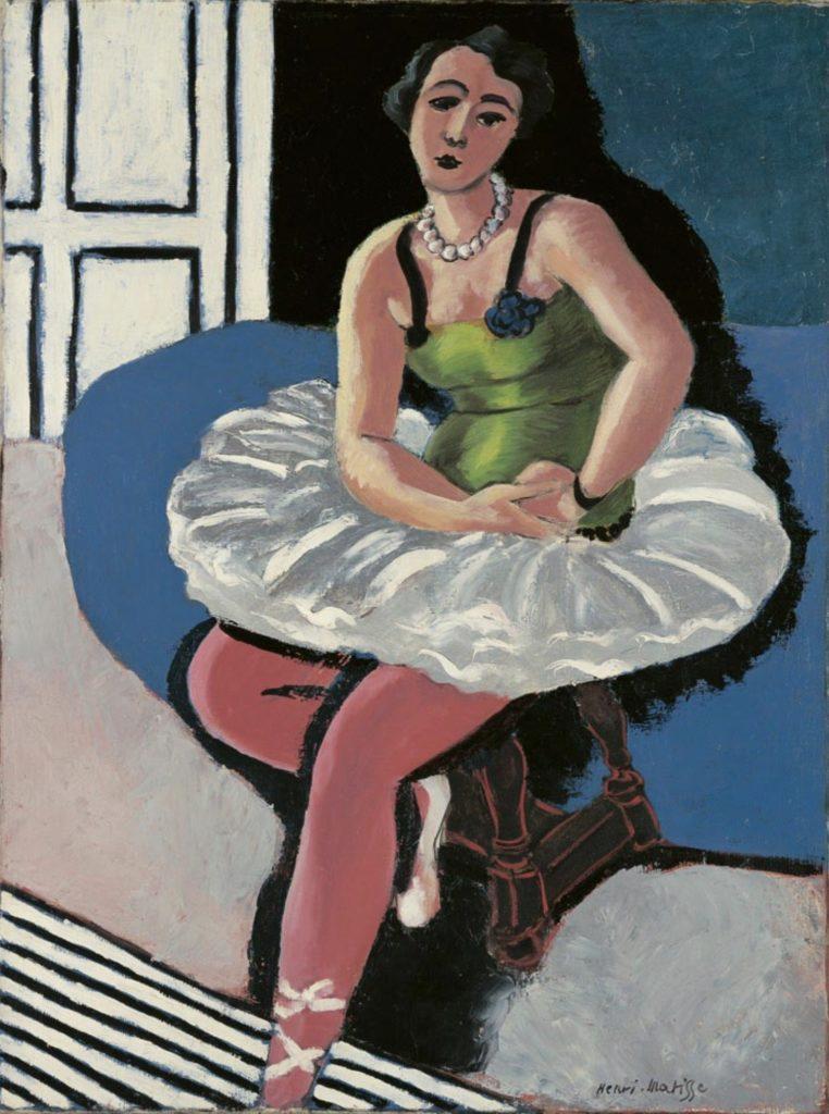 Danseuse de ballet assise sur un tabouret par Henri Matisse