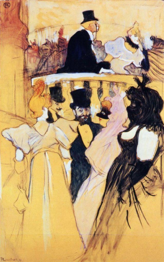 Au bal de l'opéra de Toulouse-Lautrec