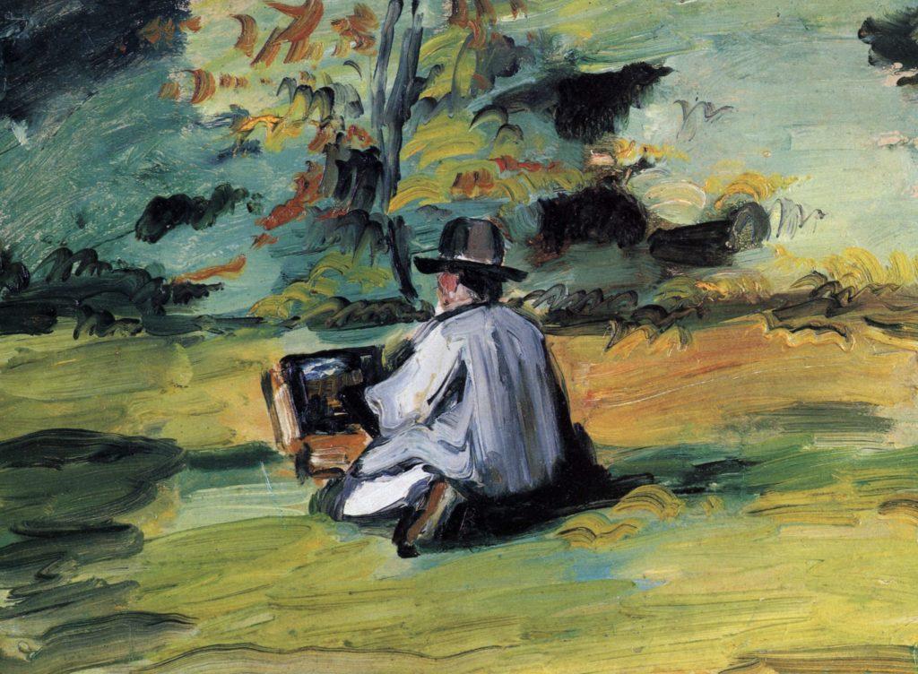 Peintre au travail de Paul Cézanne