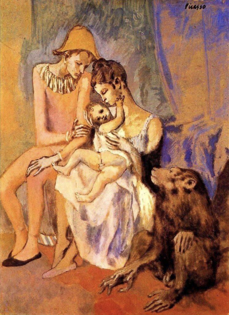 Famille d'acrobates avec un singe de Pablo Picasso