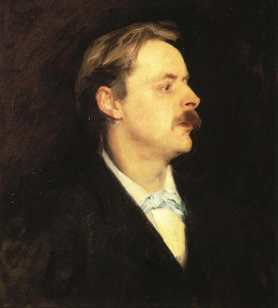 Portrait de Edmond Gosse par John Singer Sargent