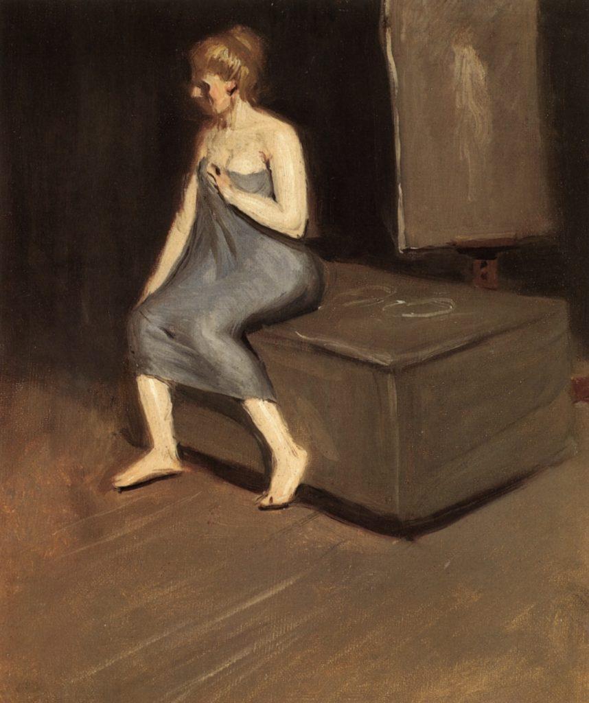 Modèle assis d'Edward Hopper