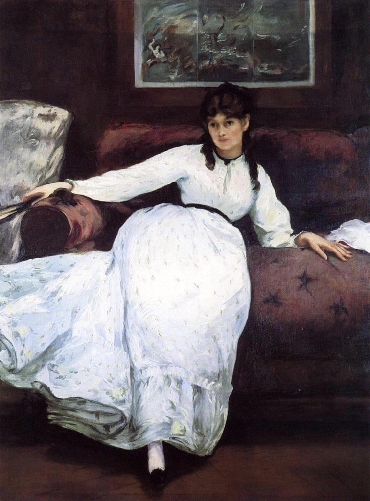 Le repos, portrait de Berthe Morisot par Édouard Manet