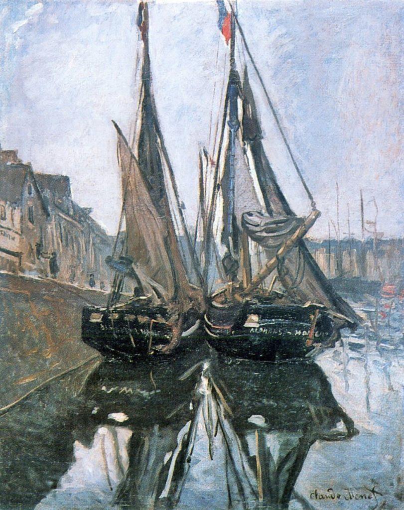 Bateaux de pêche à Honfleur de Claude Monet