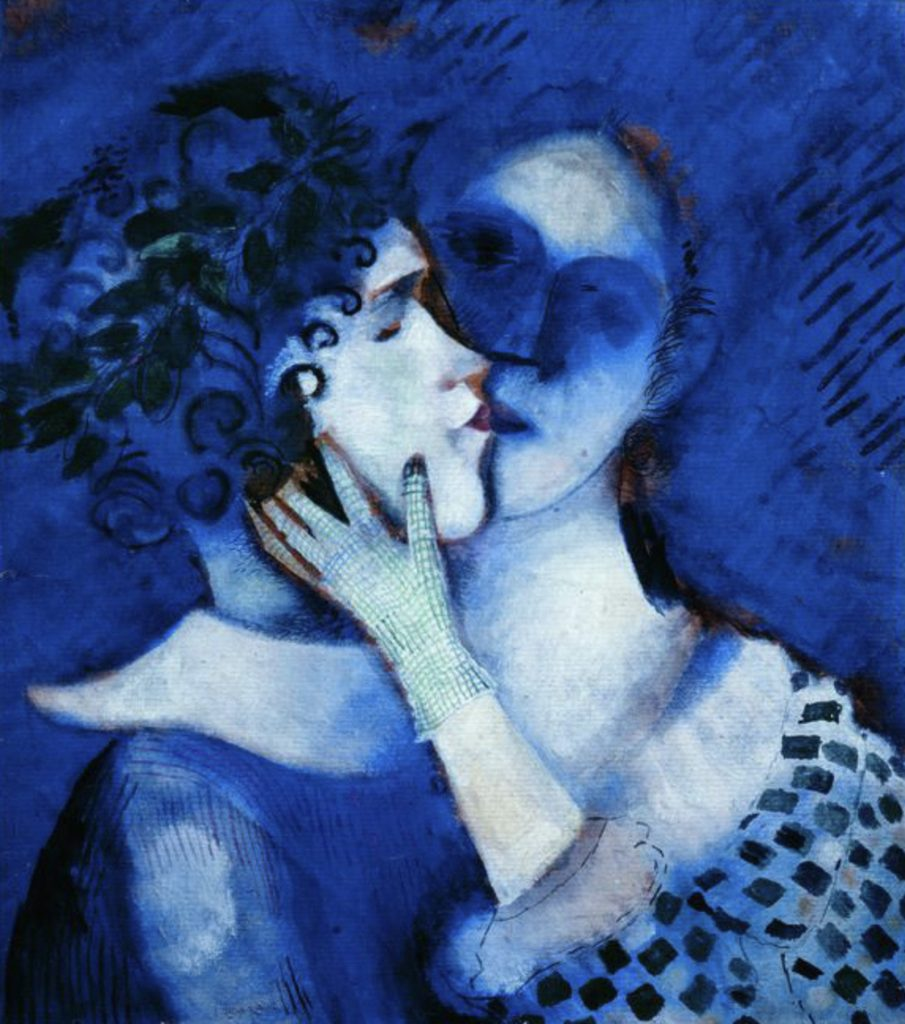 Blue lovers by Marc Chagall