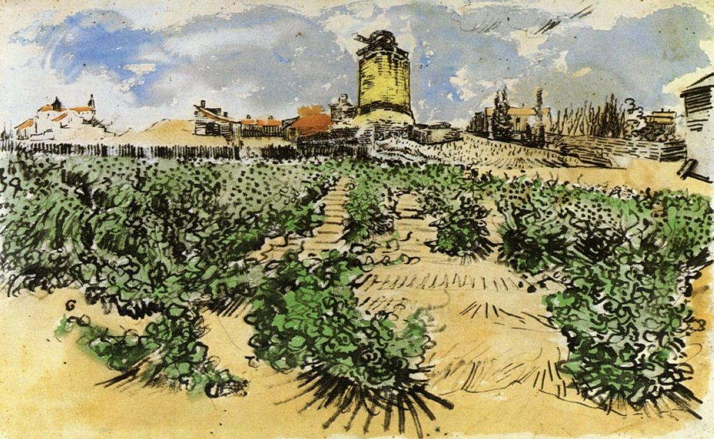 Le Moulin de Daudet par Van Gogh