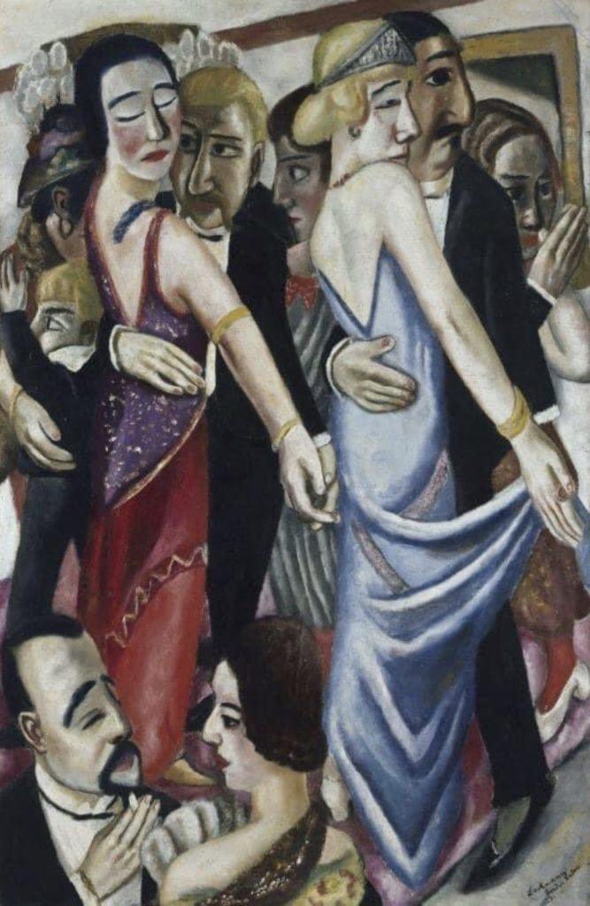 Dancing bar à Baden-Baden de Max Beckmann