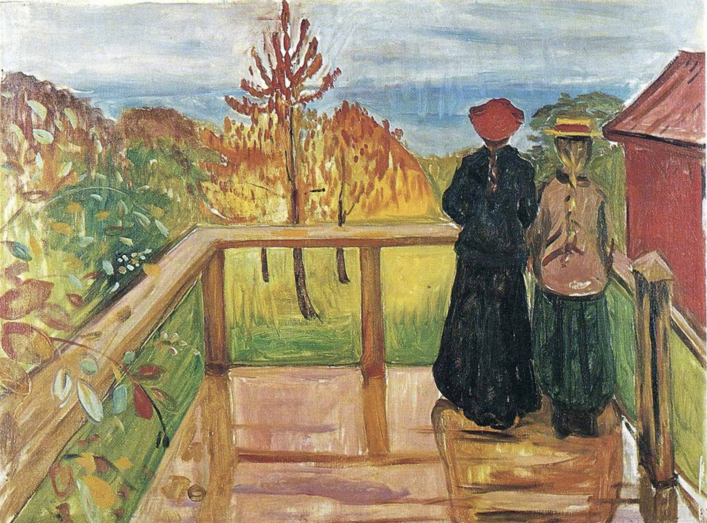 La pluie d'Edvard Munch