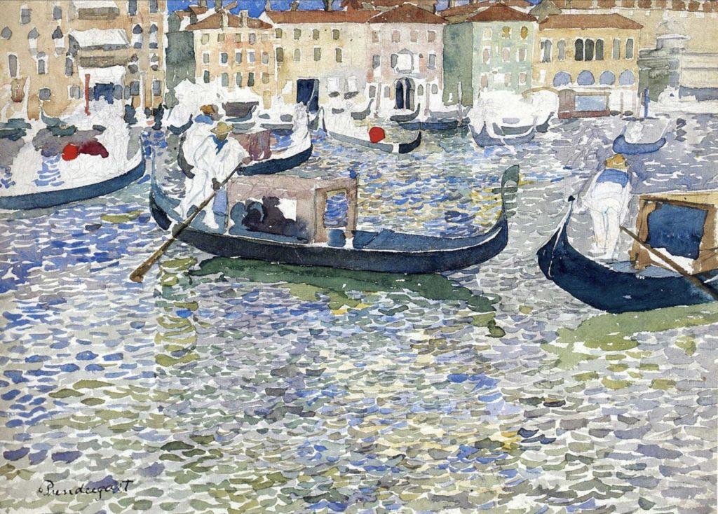 Grand canal, Venise par Maurice Prendergast