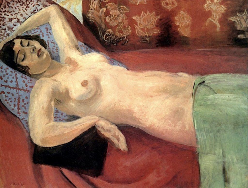 Nu au châle vert par Henri Matisse