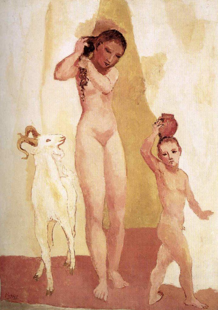 Fille et chèvre de Pablo Picasso