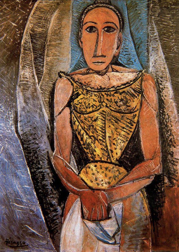 Femme au chemisier jaune de Pablo Picasso