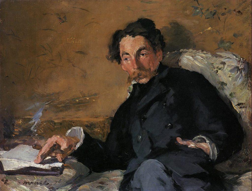 Portrait de Stéphane Mallarmé par Claude Monet