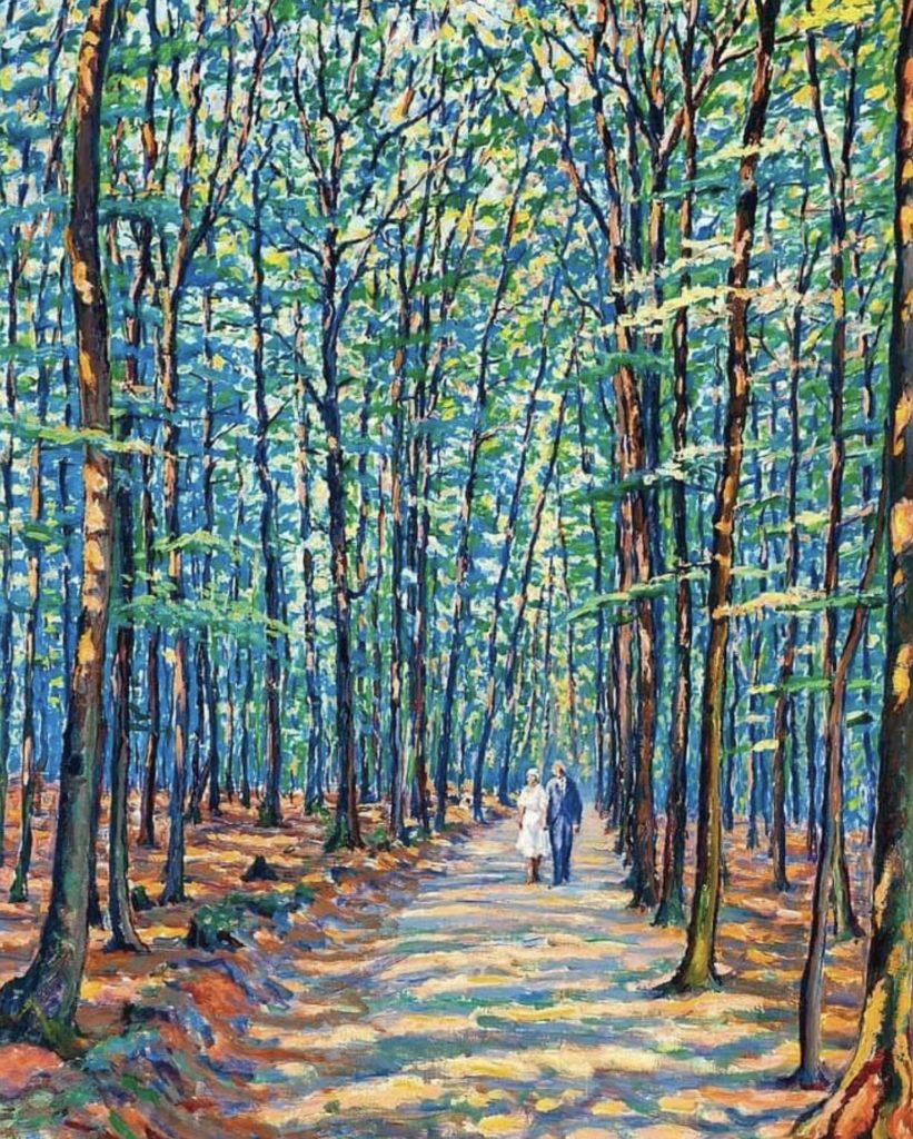 Dans les bois à Georgenborn par Gustave Cariot