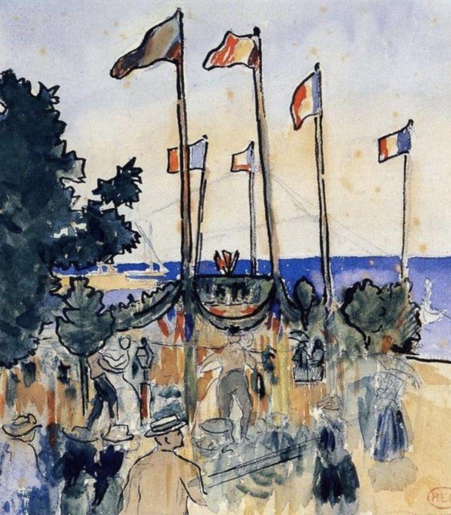 Le 4 juillet au bord de la mer d'Henri-Edmond Cross