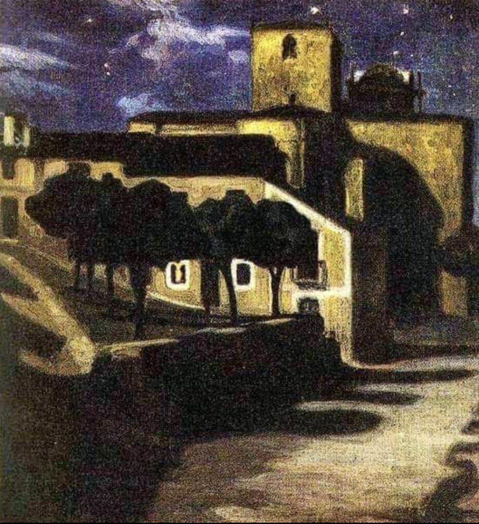 Scène de nuit à Avila de Diego Rivera