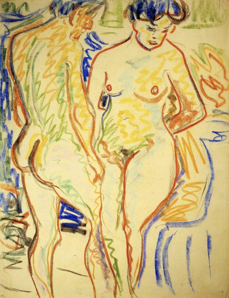 Couple par Ernst Ludwig Kirchner