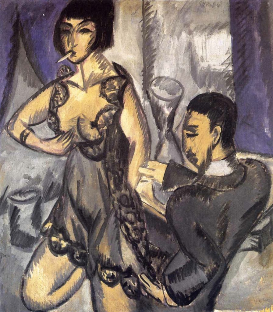 Couple in a room by Ernst Ludwig Kirchner