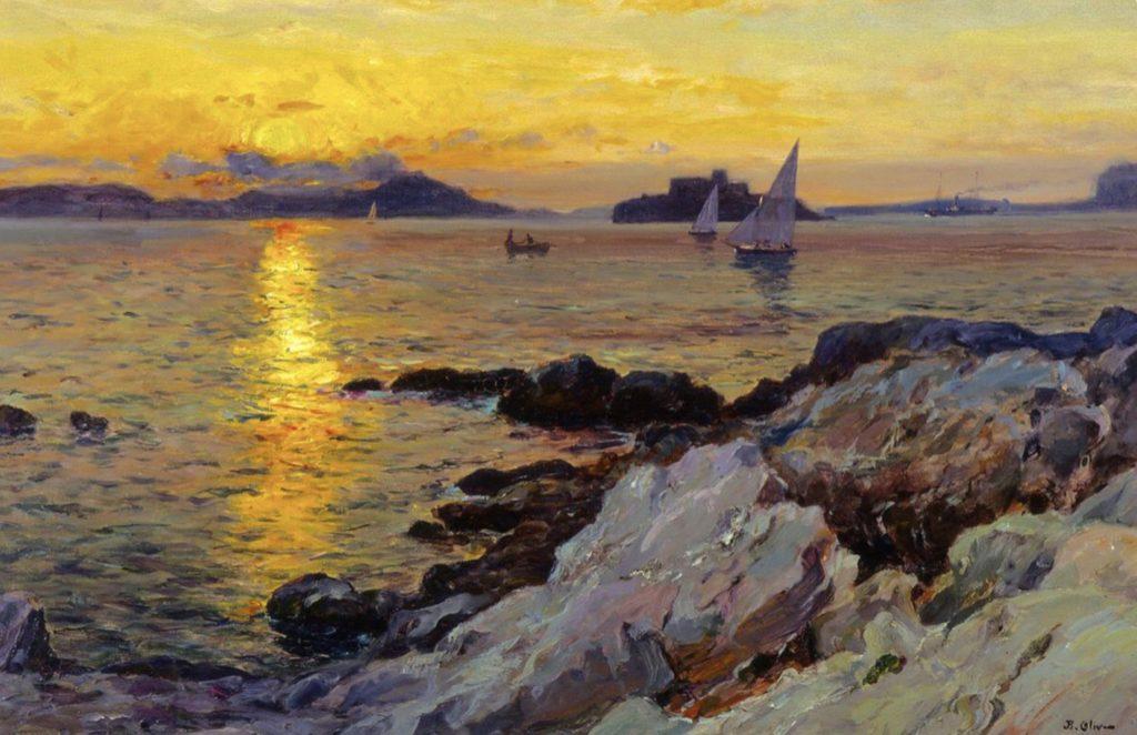 Coucher de soleil sur les îles du Frioul par Jean-Baptiste Olive