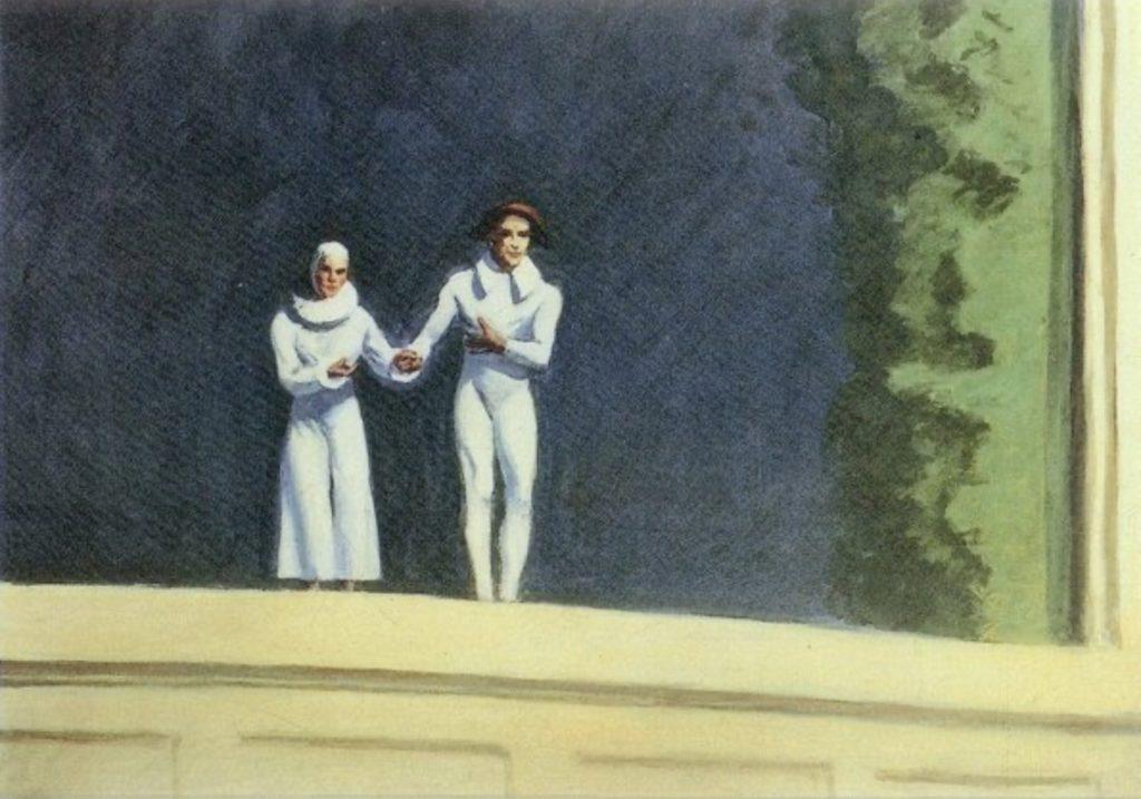 Deux comédiens d'Edward Hopper