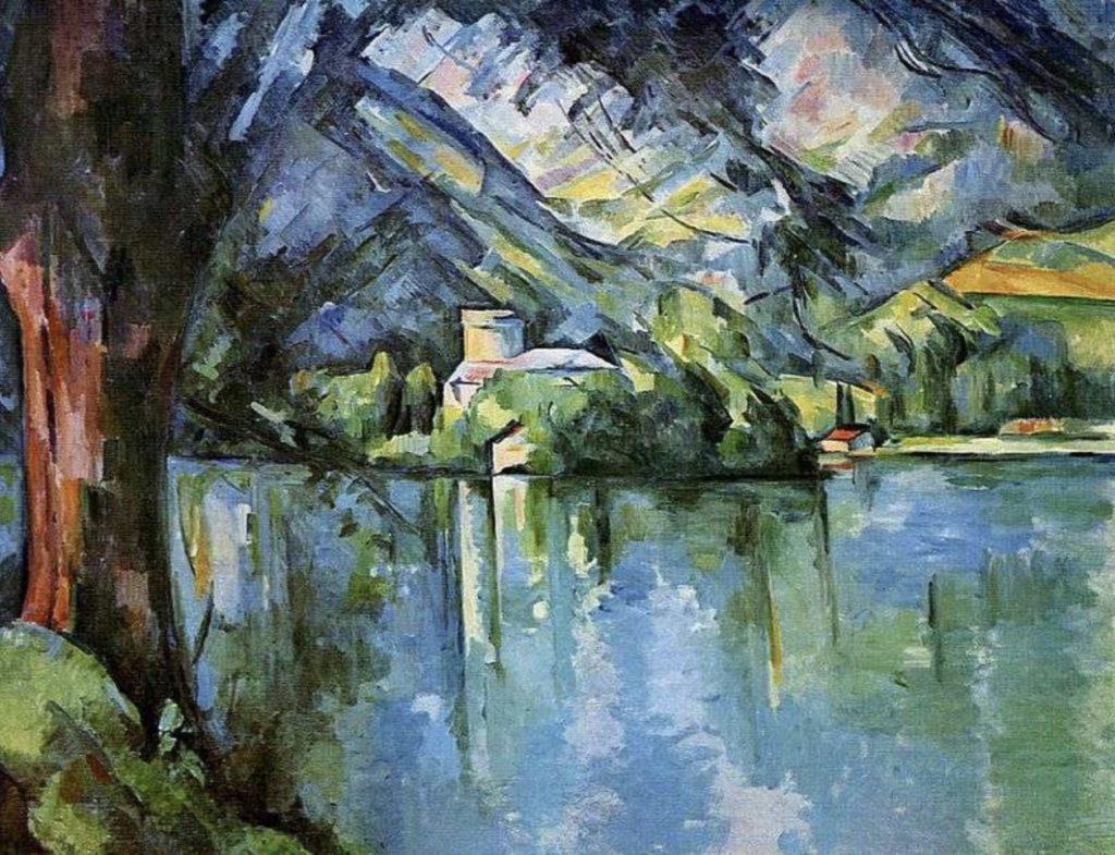 Le lac d'Annecy de Paul Cézanne