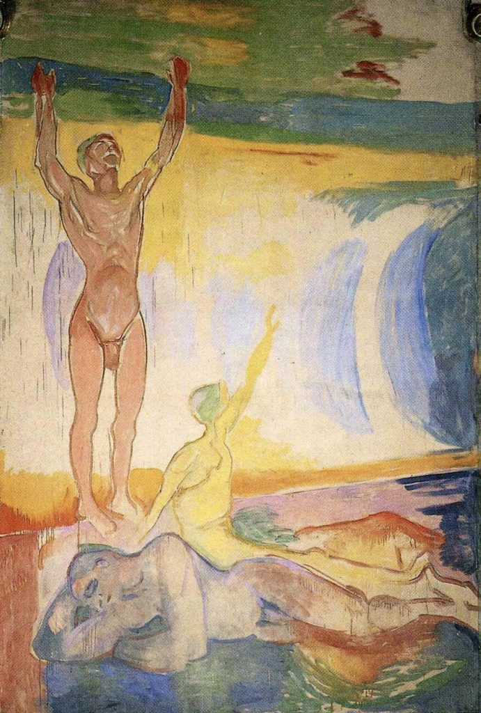 Hommes au réveil d'Edvard Munch