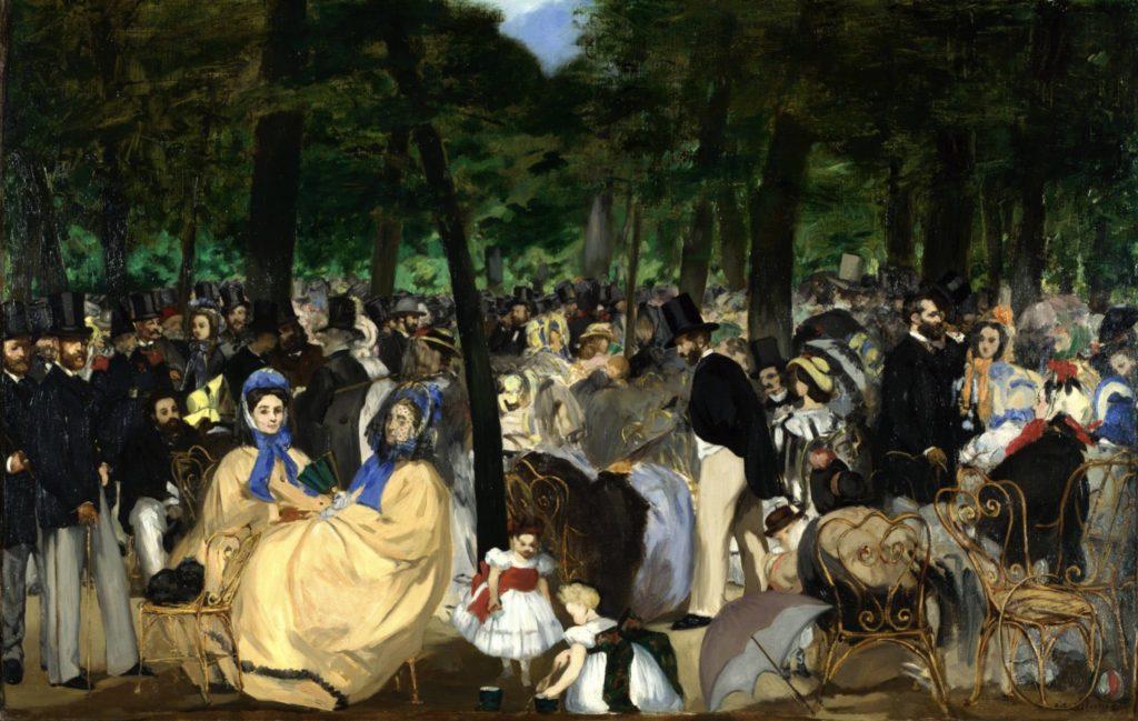 Musique aux Tuileries d'Edouard Manet