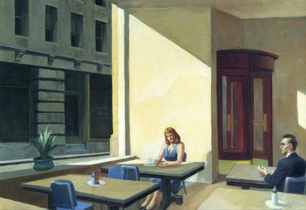 La lumière du soleil dans une cafétéria d'Edward Hopper