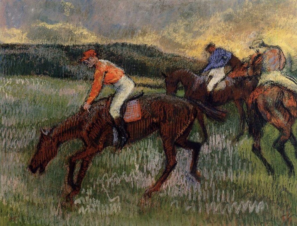 Trois jockeys d'Edgar Degas