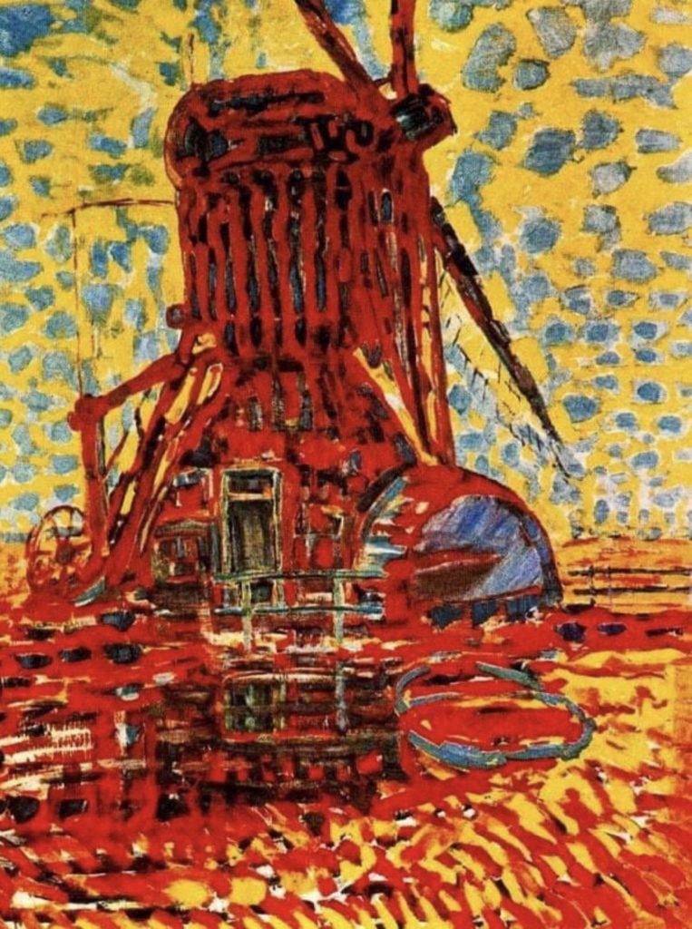 Le moulin Winkel de Piet Mondrian