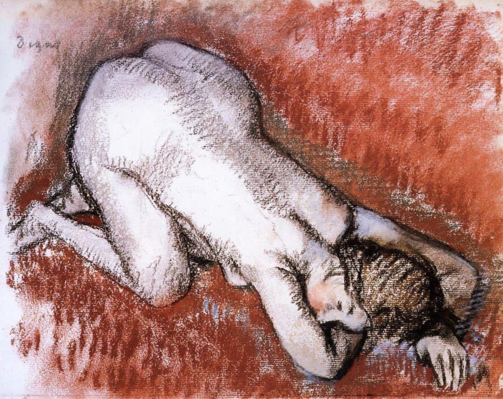 Nu à genoux d'Edgar Degas
