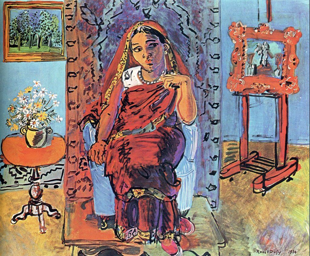 Intérieur avec femme indienne de Raoul Dufy