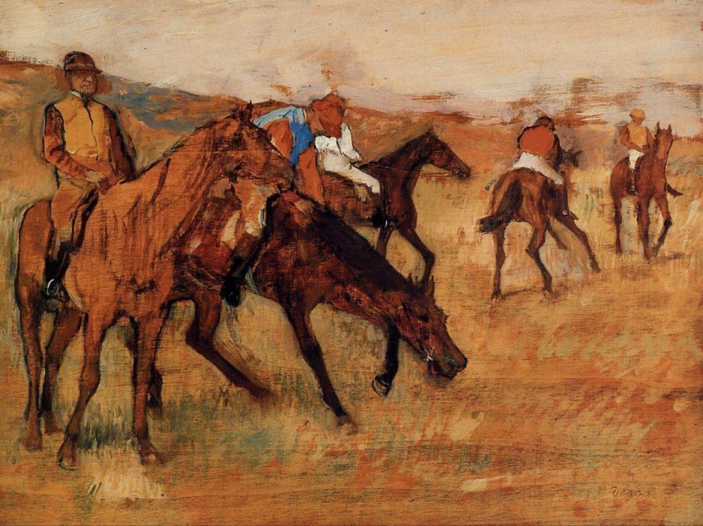 Avant la course d'Edgar Degas