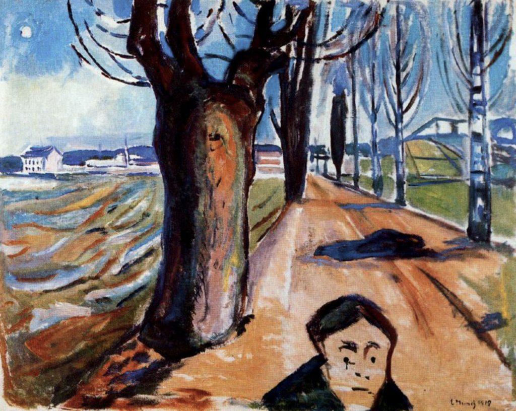 Le meurtrier dans la ruelle d'Edvard Munch