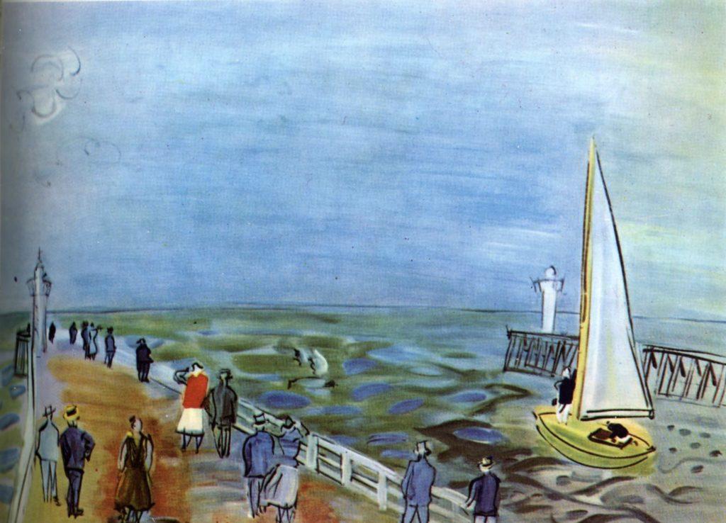 La mer à Deauville de Raoul Dufy