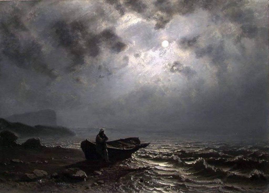 Lune sur la côte norvégienne de Knud Baade